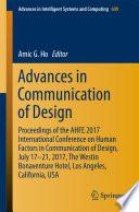 Advances in Communication of Design Book PDF
