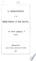 A Disquisition on the First Person in the Trinity Book