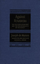 Against Rousseau