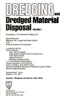 Dredging And Dredged Material Disposal Book PDF