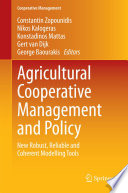 Agricultural Cooperative Management And Policy Book PDF
