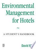 Environmental Management for Hotels