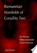 Riemannian Manifolds of Conullity Two Book