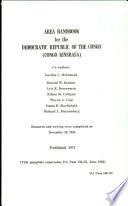 Area Handbook for the Democratic Republic of the Congo  Congo Kinshasa   Book