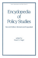 Pdf Encyclopedia of Policy Studies, Second Edition