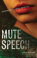 Mute Speech ebook