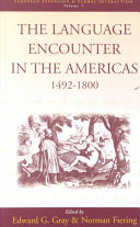 Pdf The Language Encounter in the Americas, 1492-1800
