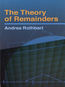 Pdf The Theory of Remainders Telecharger