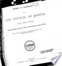 Reports Of Proceedings Of The City Council Of Boston For The Year