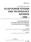 Proceedings of the ASME Fluid Power Systems and Technology Division