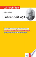 Lektürehilfen Ray Bradbury Fahrenheit 451