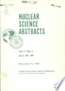 Nuclear Science Abstracts Book
