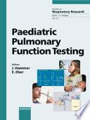 Paediatric Pulmonary Function Testing Book PDF