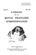 L'Oiseau et la revue française d'ornithologie