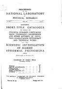 Short Title Catalogue of Works on Physical Research  Spiritualism  Magic  Psychology  Legerdemain and Other Methods of Deception  Charlatanism  Witchcraft  and Technical Works for the Scientific Investigation of Alleged Abnormal Phenomena from Circa 1450 A D  to 1929 A D