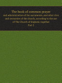 Pdf The book of common prayer Telecharger