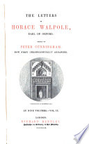 The Letters of Horace Walpole, Earl of Oxford
