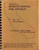 Statement on Redwood National Park Extension