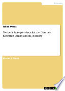 Mergers Acquisitions In The Contract Research Organization Industry