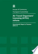 Air Travel Organisers Licensing Atol Reform Book PDF