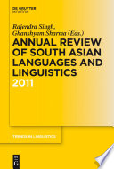 Annual Review of South Asian Languages and Linguistics  : 2011