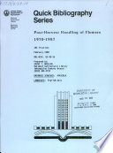 Post Harvest Handling Of Flowers 1970 1987 Book PDF