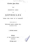The Oedipus rex of Sophocles Book PDF