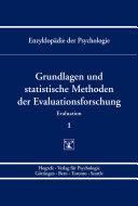 Themenbereich B: Methodologie und Methoden / Evaluation / Grundlagen und statistische Methoden der Evaluationsforschung