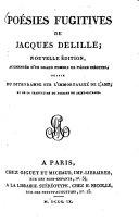 Poésies fugitives de Jacques Deville