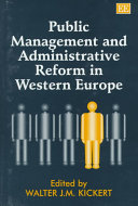 Public Management And Administrative Reform In Western Europe