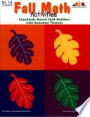 Seasonal Math Activities   Fall  ENHANCED eBook