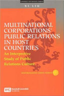 Multinational Corporations Public Relations In Host Countries Book PDF