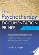 The Psychotherapy Documentation Primer