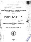 """""""Fourteenth Census of the United States Taken in the Year 1920..."""" by United States. Bureau of the Census"""