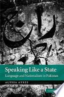 Speaking Like a State