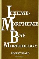 Lexeme-Morpheme Base Morphology [Pdf/ePub] eBook