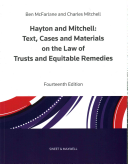 Hayton And Mitchell On The Law Of Trusts Equitable Remedies