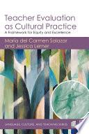 Teacher Evaluation as Cultural Practice Book PDF