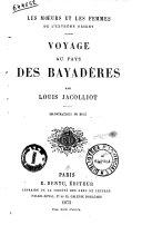 Voyage au pays des bayadères par Louis Jacolliot