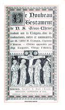 Le Nouveau Testament de N.S. Jésus-Christ