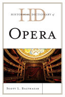 Pdf Historical Dictionary of Opera Telecharger