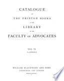 Catalogue Of The Printed Books In The Library Of The Faculty Of Advocates S Zypaeus 1878