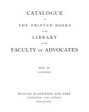 Catalogue of the Printed Books in the Library of the Faculty of Advocates: S-Zypaeus. 1878