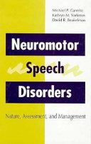 Neuromotor Speech Disorders Book PDF