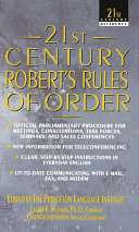 21st Century Robert s Rules of Order