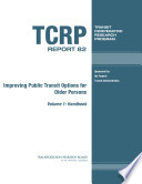 Improving Public Transit Options for Older Persons Book