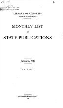 Monthly List of State Publications