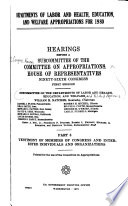 Departments of Labor and Health  Education  and Welfare Appropriations for 1980 Book PDF