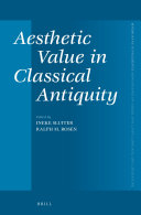Aesthetic Value in Classical Antiquity