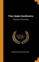 Thus Spake Zarathustra Book